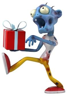 Забавный зомби - 3d иллюстрации