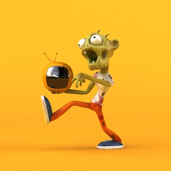 Забавная иллюстрация зомби