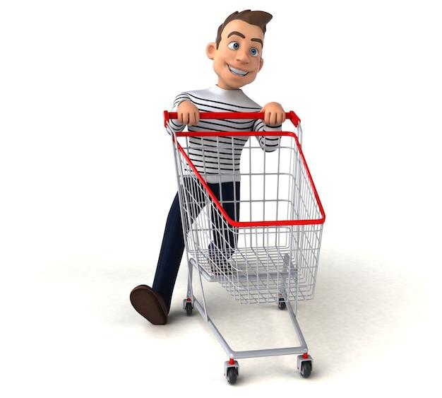 Забавный 3d мультяшный случайный персонаж