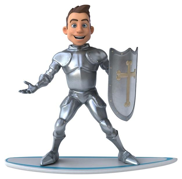 Забавный 3d мультяшный рыцарь