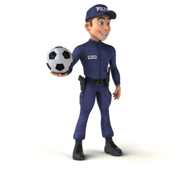 漫画の警察官の面白い3dイラスト