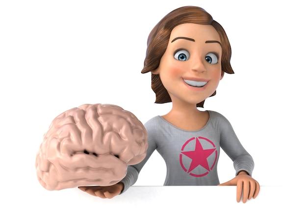 Смешные 3d иллюстрации мультфильм девочка-подросток