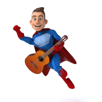 面白いスーパーヒーローの面白い3dイラスト