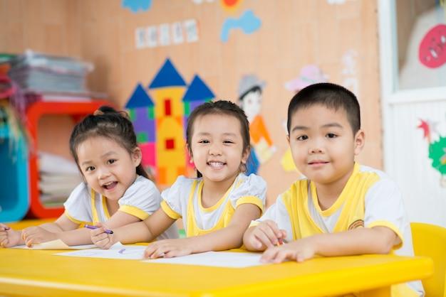 Funny asian children