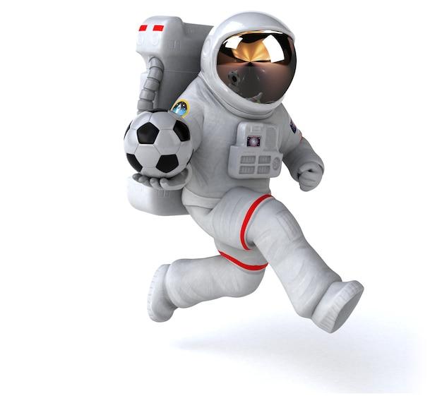 面白い宇宙飛行士の3dイラスト