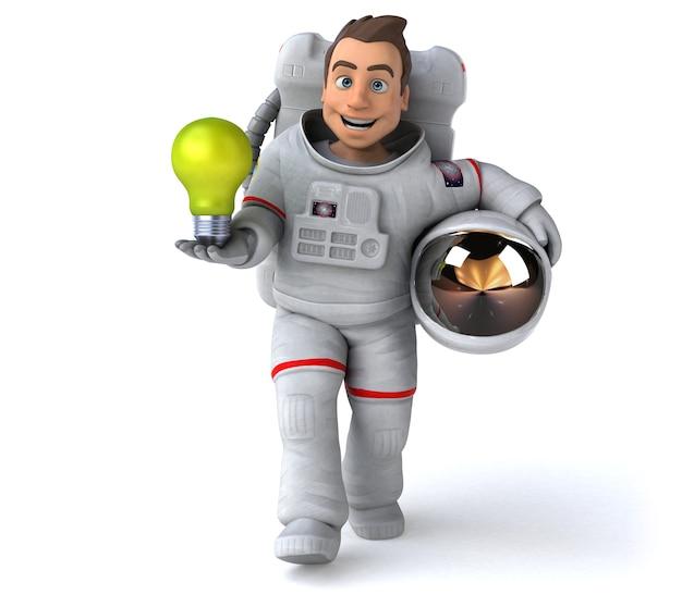 Funny astronaut 3d illustration