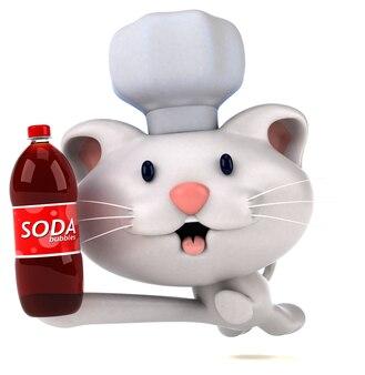 Смешная кошка 3d иллюстрация