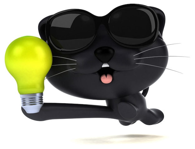 재미 있은 고양이 3d 그림
