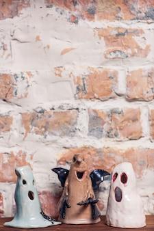 Забавные керамические фигурки призраков, украшение на хэллоуин.