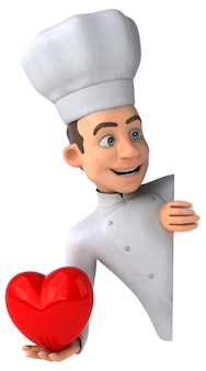 Смешная иллюстрация шеф-повара
