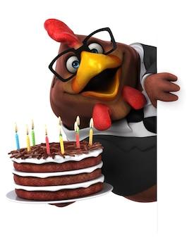 재미있는 닭 3d 그림