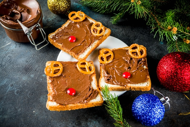 Funny christmas sandwiches