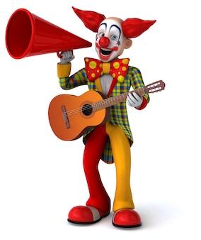 Funny clown 3d illustration
