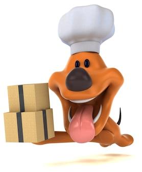 Смешная собака 3-я иллюстрация