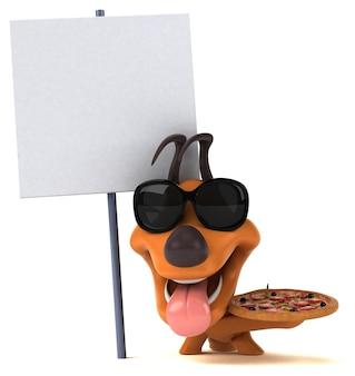 Funny dog 3d illustration