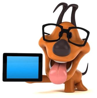 Illustrazione 3d del cane divertente
