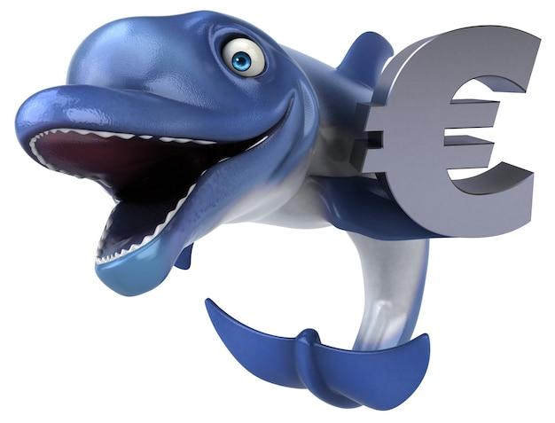 Забавный дельфин 3-я иллюстрация