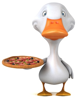 Funny duck 3d illustration
