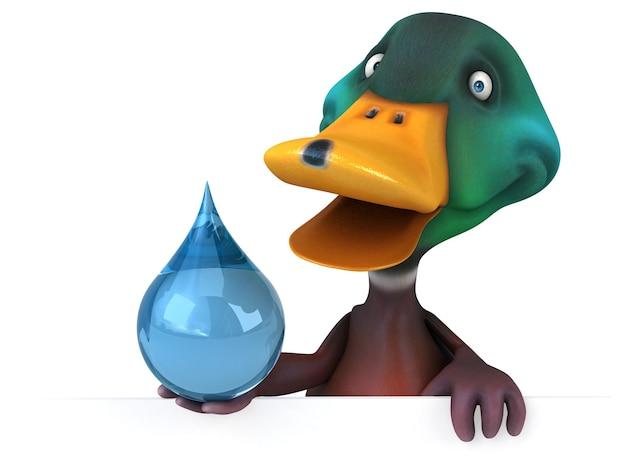 Funny duck 3d illustration