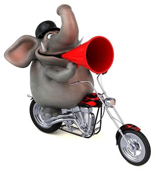 Funny elephant 3d illustration