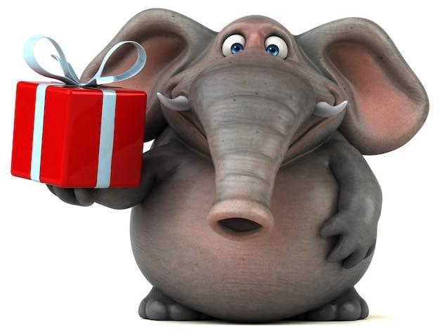 Забавный слон 3d иллюстрация