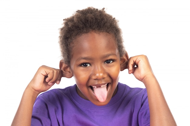 Funny expression of a small african child