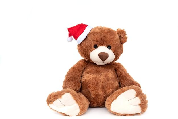 Забавный пушистый коричневый плюшевый мишка лучший ребенок мягкая игрушка изолированные
