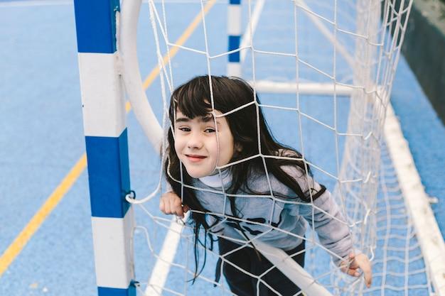 サッカーネットで面白い女の子
