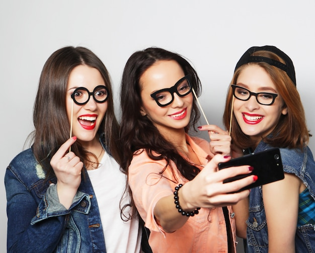 Funny girls, ready for party