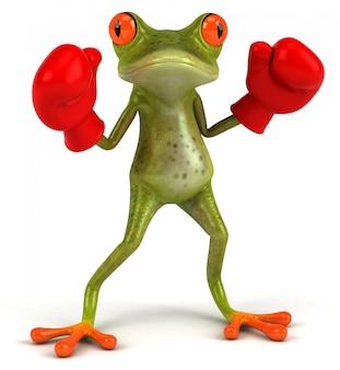 Смешная зеленая лягушка