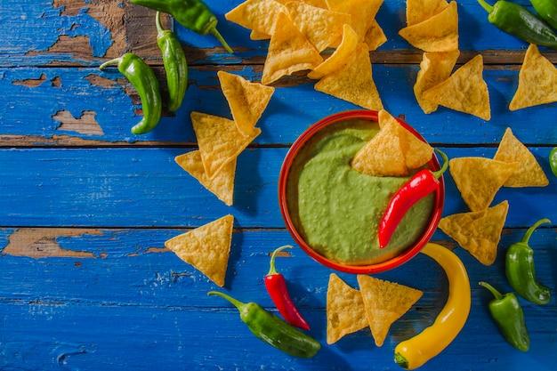 Funny guacamole composition