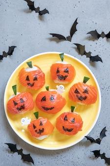 Смешные хэллоуин суши тыквы джек o фонарь