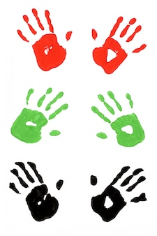 Funny handprints