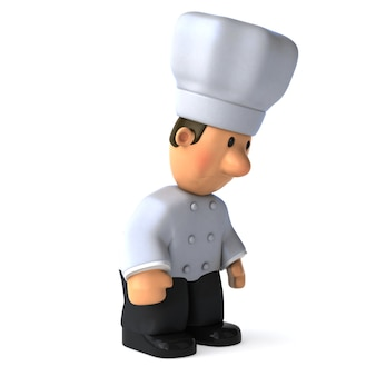 Забавный иллюстрированный повар 3d иллюстрация