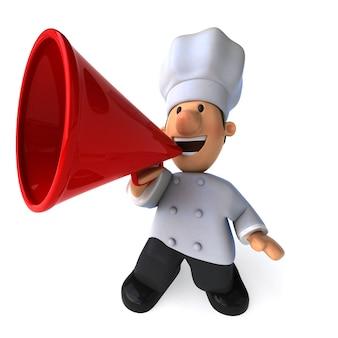 Смешные иллюстрированный шеф-повар кричит