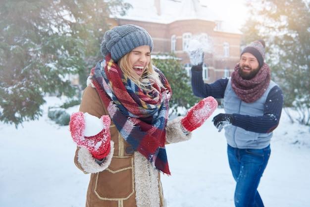 Momenti divertenti in inverno