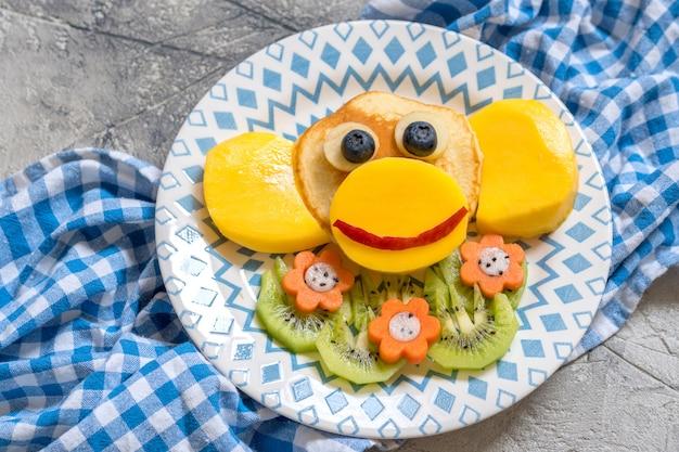 Смешные обезьянки блины для детей завтрак