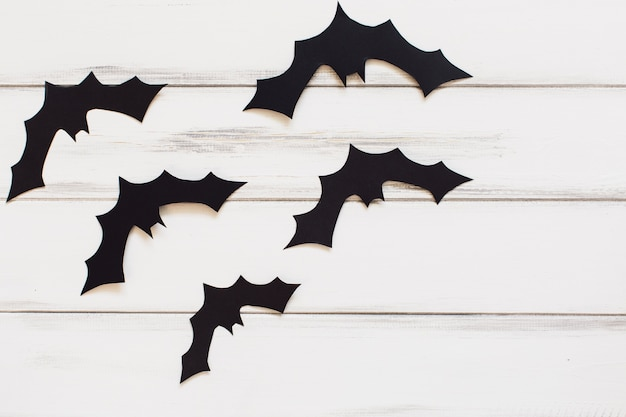 Funny paper bats for halloween