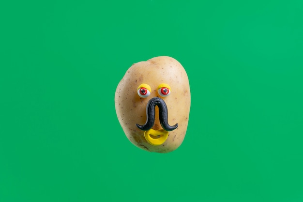 Funny potato with face sticker