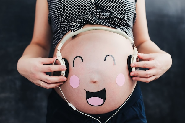 Funny pregnant belly