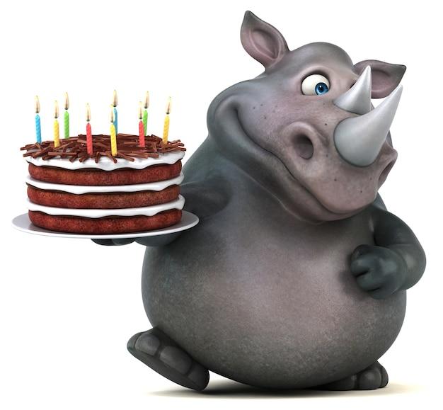 재미있는 코뿔소 3d 그림