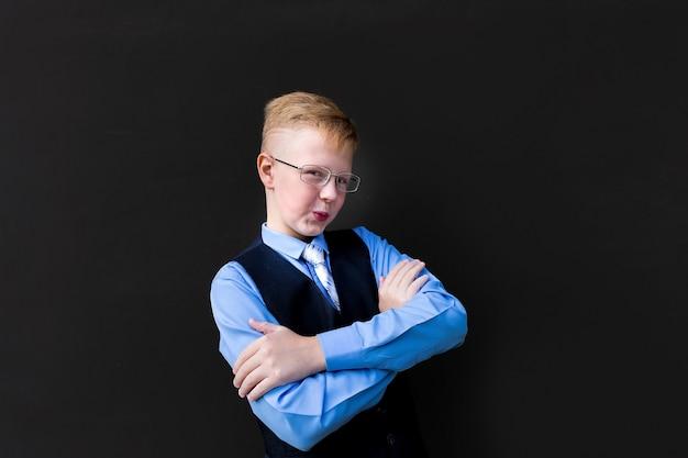 The funny schoolboy at the school board