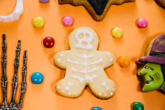 Funny skeleton cookie