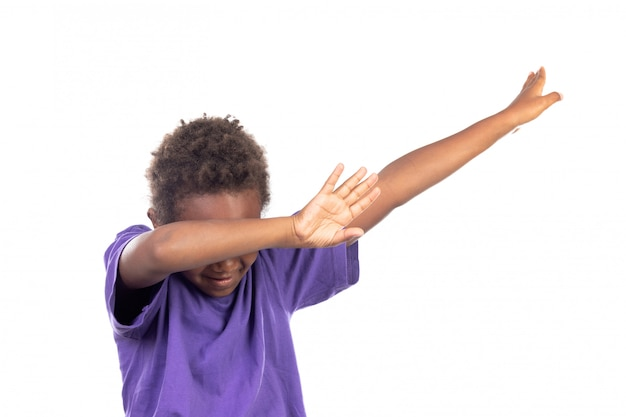 Funny small child extending his arms
