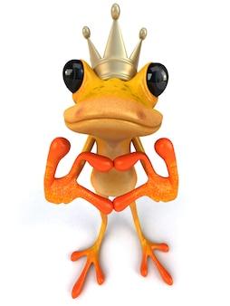 Смешная желтая лягушка