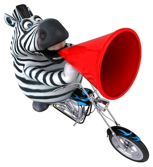 Funny zebra 3d illustration