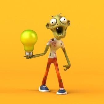 Funny zombie 3d illustration