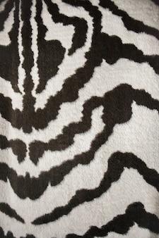 얼룩말 가죽 패턴의 모피 원단