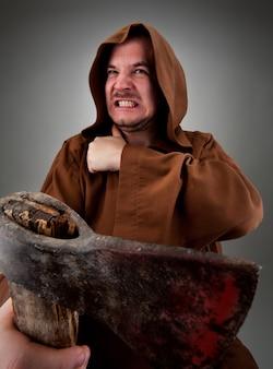 猛烈な中世の死刑執行人