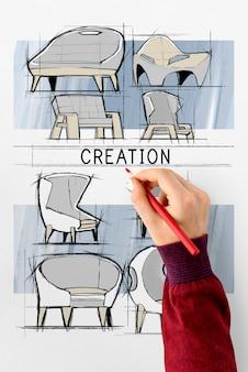 Дизайн эскизов мебели